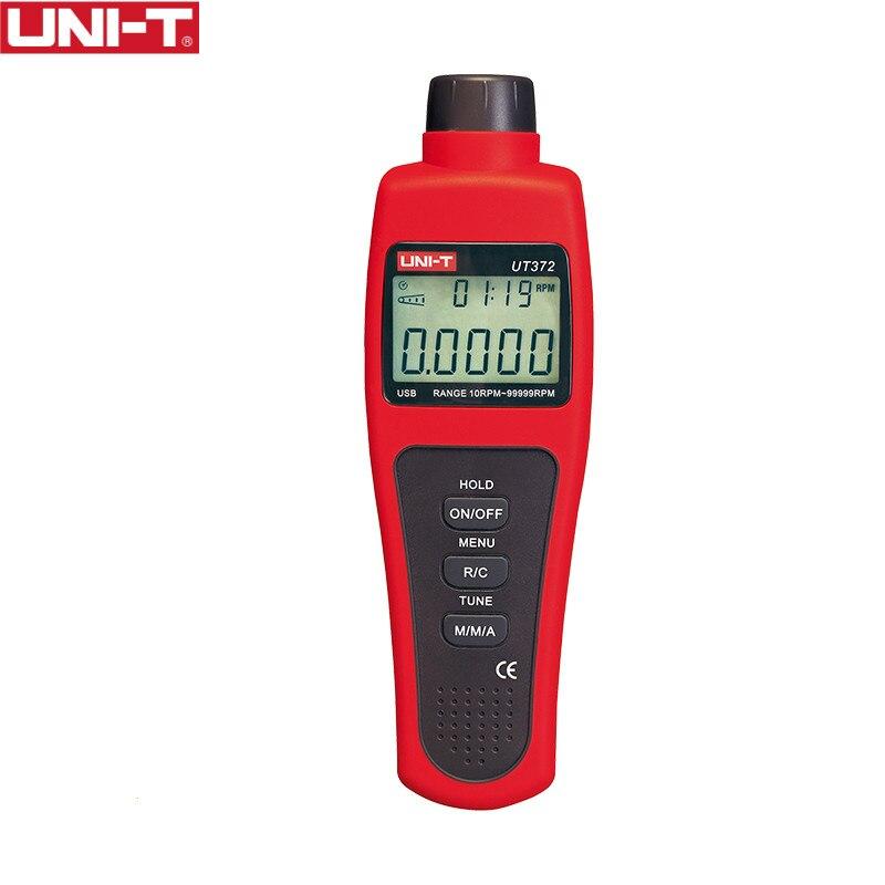 UNI-T UT372 Senza Contatto Tachimetro Bersaglio Gamma di GIRI 10 ~ 99999 MAX/MIN/AVG Distanza di Prova 5 ~ 20 cm Interfaccia USB