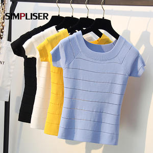 simpliser 2019 Summer Female Sweaters Knitting Tops Ladies