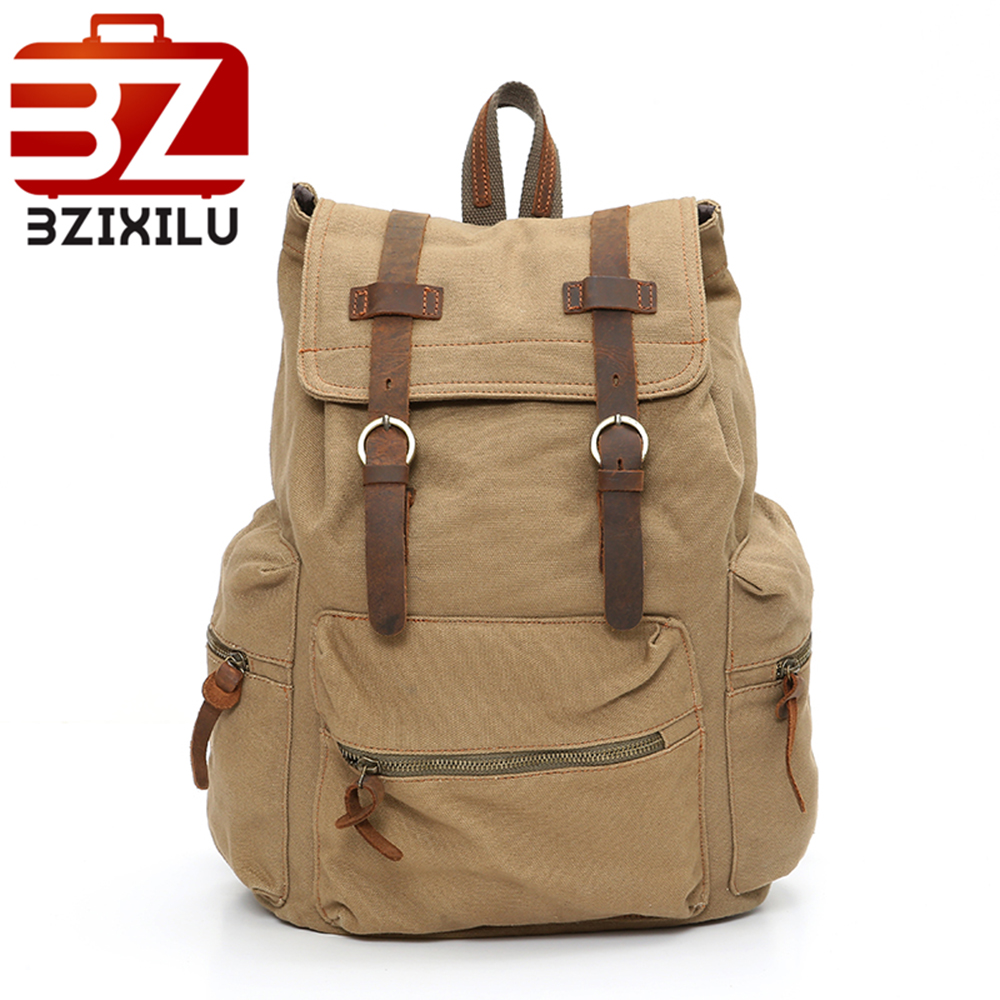 Vintage Canvas Backpack Men's and Women's School bags Male Travel bagpack Large Capacity Leisure college bags 2018 New fashion vintage canvas backpack men s and women s school bags male travel bagpack large capacity leisure college bags 2018 new fashion