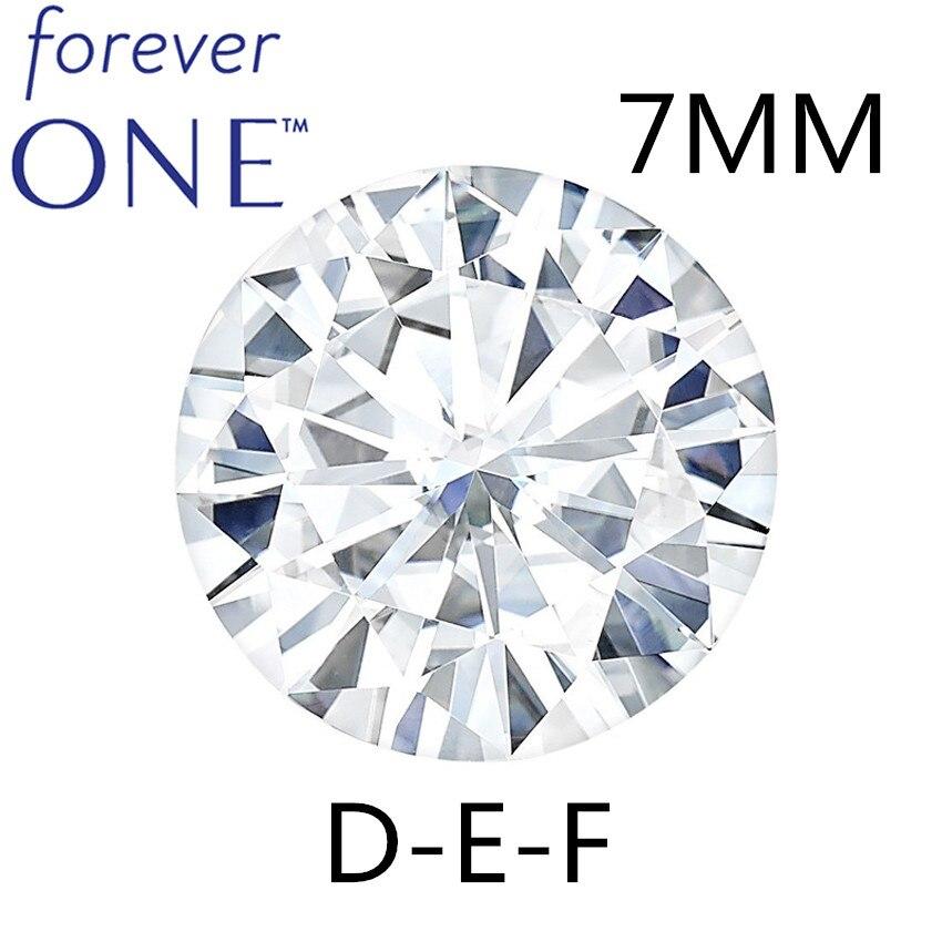 Тестирование положительных 7 мм 1,1 карат против DEF цвет Charles Colvard навсегда один круглый разрезанный Муассанит Алмазный сыпучих камней сертификат