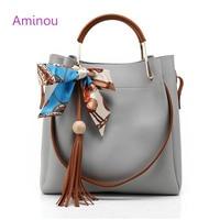 2016 Fashion New Arrival Women Bucket Composite Bags Ladies Casual PU Leather Shoulder Bag Ladies Messenger