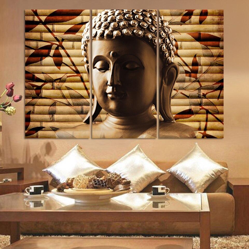 3 piece canvas art posters & prints Buddha meditation canvas ...