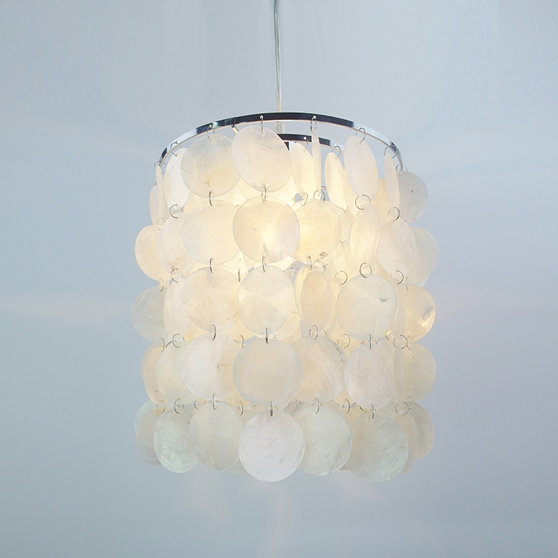 Modern Natural white seashells raindrops industrial pendant Lamp cord led E14 light for Bedroom dining Living room Restaurant industrial pendant light for bedroom vintage lamp white dining room restaurant lamps modern pendant lights cord hanging lighting