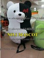 mascot Hot Sale Black and White Bear Mascot Costume Fancy Dress Custom Costume Cosplay Theme Mascotte