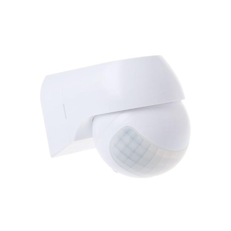 Nfrared Outdoor Indoor Motion Sensor Waterproof PIR Automatic Detector 30m Detection Distance Rotation Adjustable Light Timer
