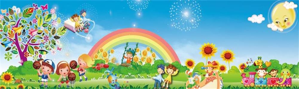 Custom 3d photo wallpaper kids room mural rainbow children