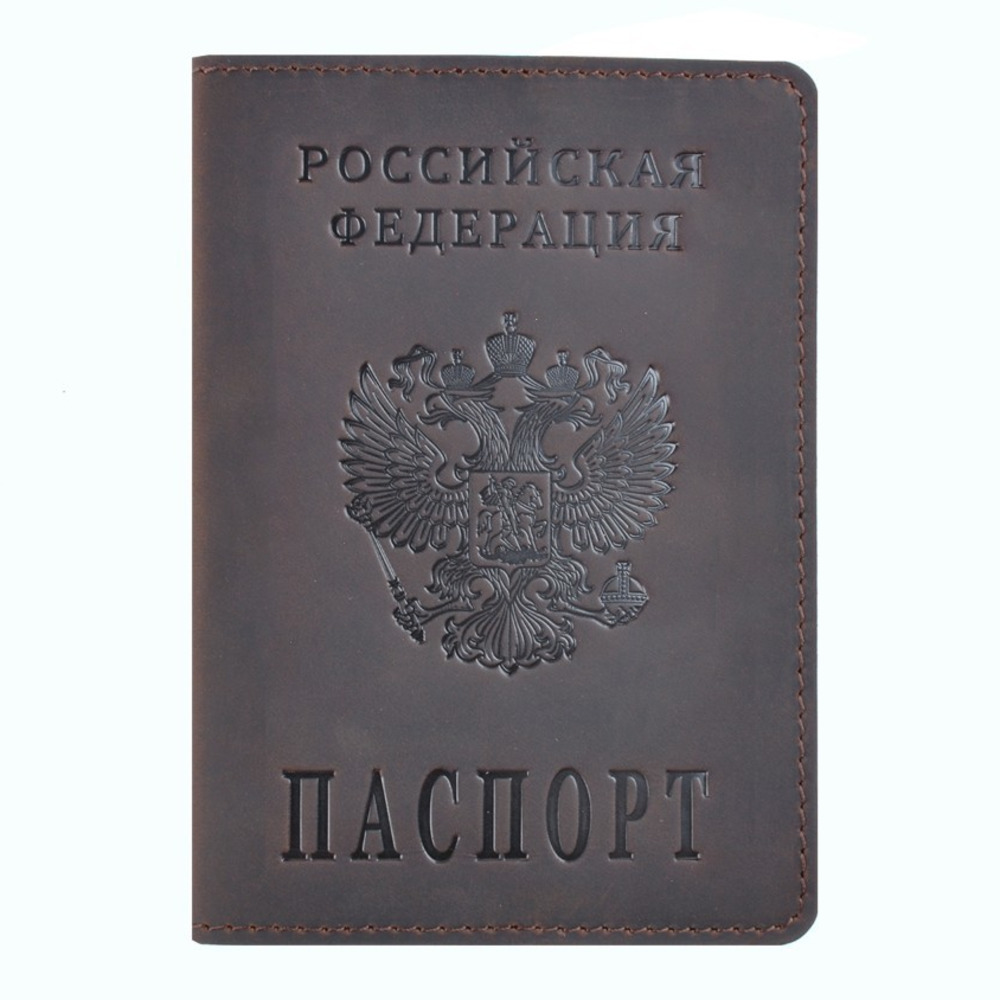 100% Genuine Crazy Horse Leather Passport Cover Designed For Russian Federation Business Card Holder Bilingual Passport Case100% Genuine Crazy Horse Leather Passport Cover Designed For Russian Federation Business Card Holder Bilingual Passport Case