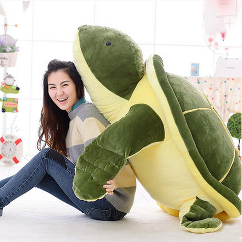 Fancytrader 150cm Huge Stuffed Soft Plush Giant Animal Turtle Cartoon Tortoise Toy One Piece  Nice Kids Gift fancytrader 2015 new 31 80cm giant stuffed plush lavender purple hippo toy nice gift for kids free shipping ft50367