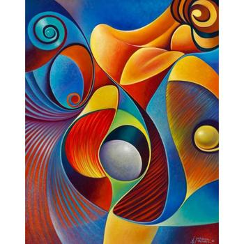 Handmade modern Oil paintings abstract painting colorful woman decorative art for living room home decoration