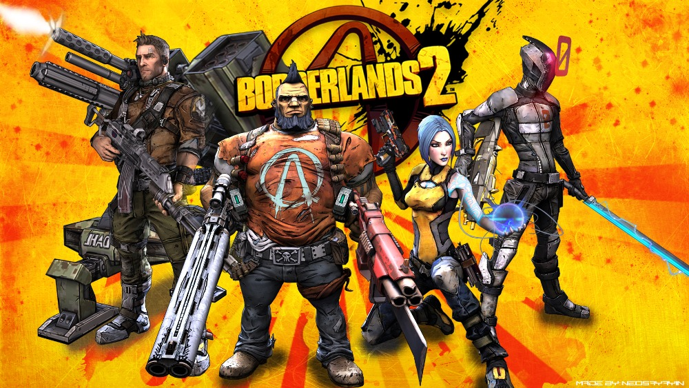 Borderlands 2 The Handsome Collection printed on Canvas Poster Print Video Game Parlor Decorative Wallpaper kids room decoration image