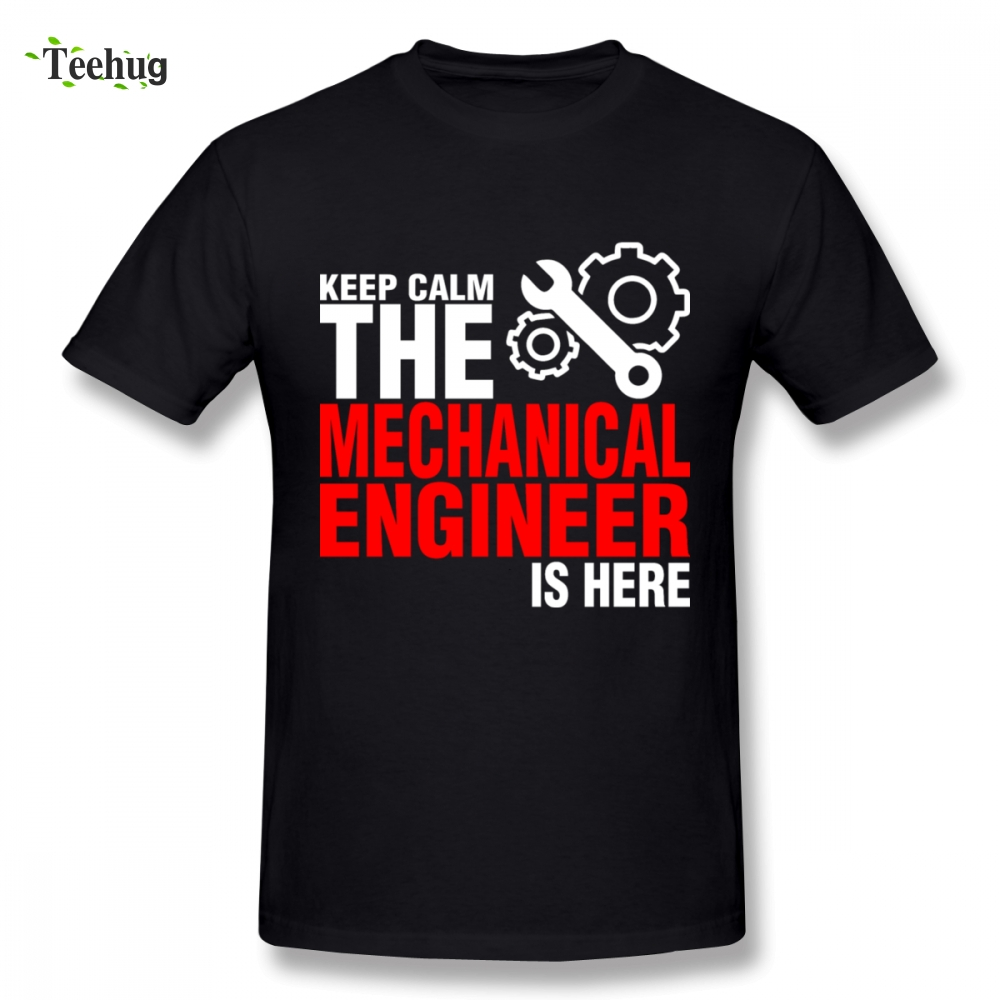 Popular Men Mechanical Engineer Homme Tee Shirt Funny Summer O-neck For Male shirt