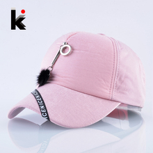 Snapback Caps For Women Spring Autumn Pink Baseball Cap Famale Metal  Decoration Fashion Hip Hop Hats fb4d6306f503