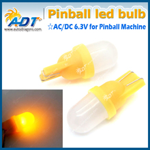 20x Colorful yellow cold white  blue red  warm  green color #555  AC DC 6.3V clear pinball led bulbs 555 wedge base