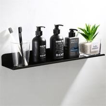 Настенные черные полки для ванной комнаты, плавающие полки, алюминиевый Душ Caddy для ванной, полка для шампуня, аксессуары для хранения