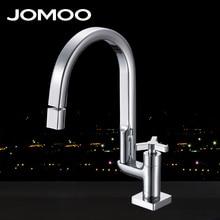 JOMOO Смеситель для кухни  Поворотный излив Хром Керамический картридж Аэратор Одно отверстие для монтажа №33055