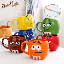 680ml Beans Drinking Ceramic Cup Colored Cafe Oatmeal Coffee Mug Glaze Milk Water Tea Mugs Fashion Drinkware