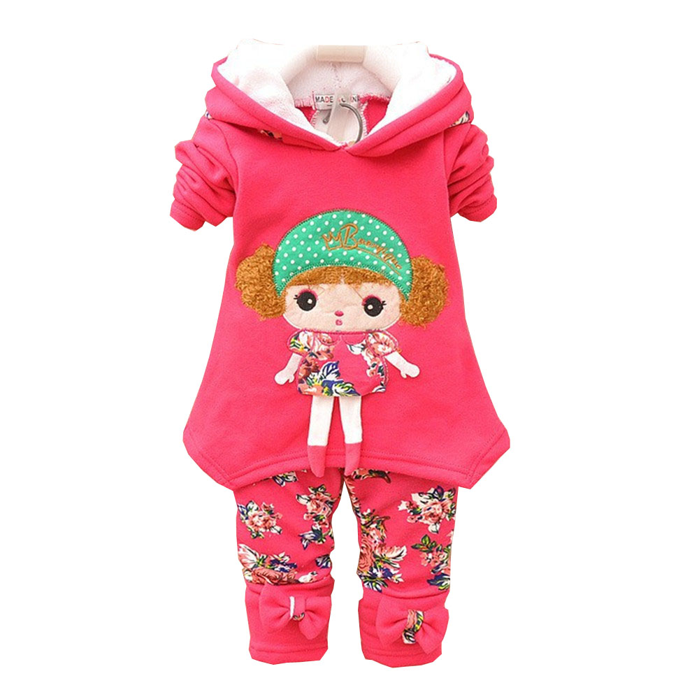 BibiCola 2017 nieuwe baby meisje kleding set kinderen hoodies lente - Babykleding