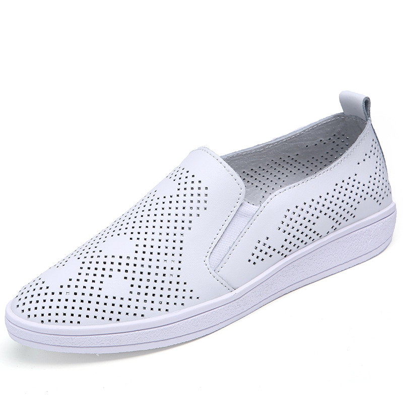 2017 spring summer women white casual shoes breathable mesh flats slip-on loafers pu leather walking shoes pink footwear T032825 2017 autumn fashion men pu shoes slip on black shoes casual loafers mens moccasins soft shoes male walking flats pu footwear