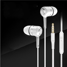 Universal 3.5mm headset stereo earphone for mobile phone earpiece  in-ear with cable