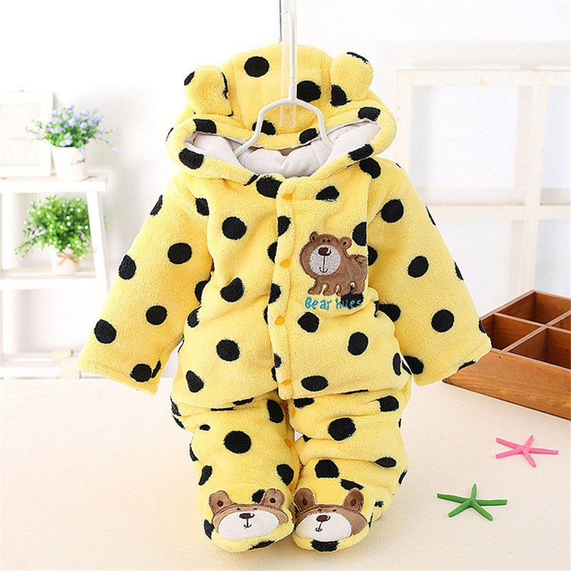 Unisex Cute Bear Baby Rompers Winter Thicken Baby Clothing Hooded Bodysuit for Babies 3 Colors for New Born Baby Romper CL0430 (12)