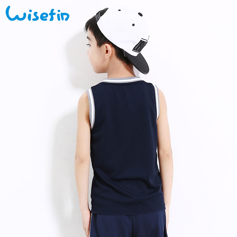Wisefin Kids Tshirt Αγόρια Κορυφαία αμάνικα Patchwork Αθλητικά ... 0bf5e3c3c6c