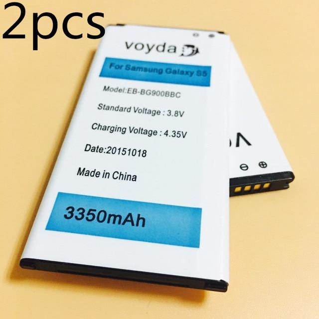 2pcs iSIU Original Battery EB-BG900BBC For Samsung GALAXY S5 Battery Mobile Phone S 5 GT i9600 SM-G900 i9605 SM-G900F Galaxy S5