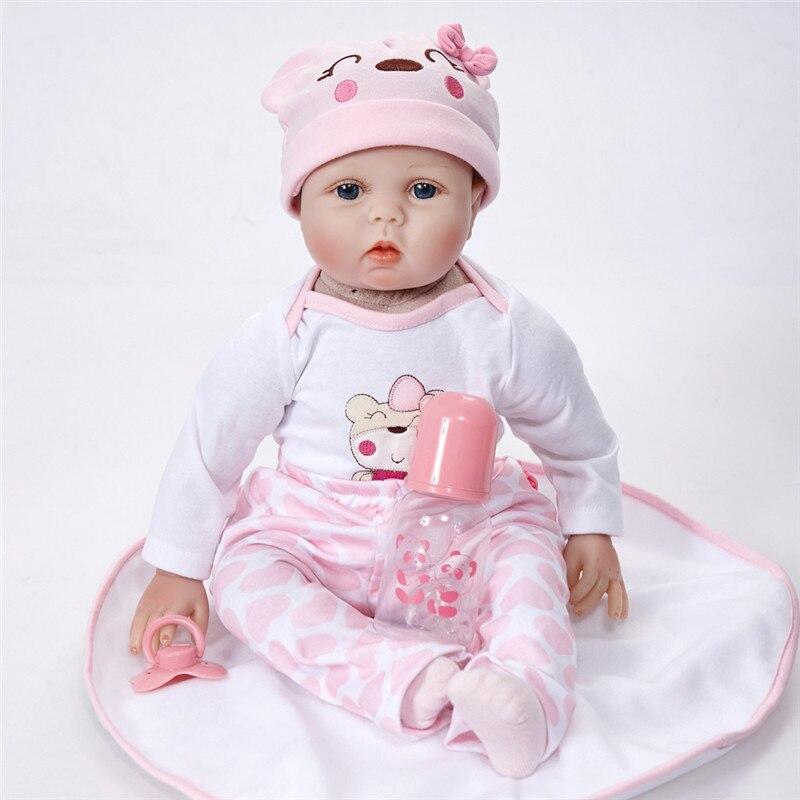 Реалистичные принцессы для девочек Reborn Baby Doll 22 дюймов реалистично силиконовые Настоящее сенсорный новорожденных игрушка с одежды для дете