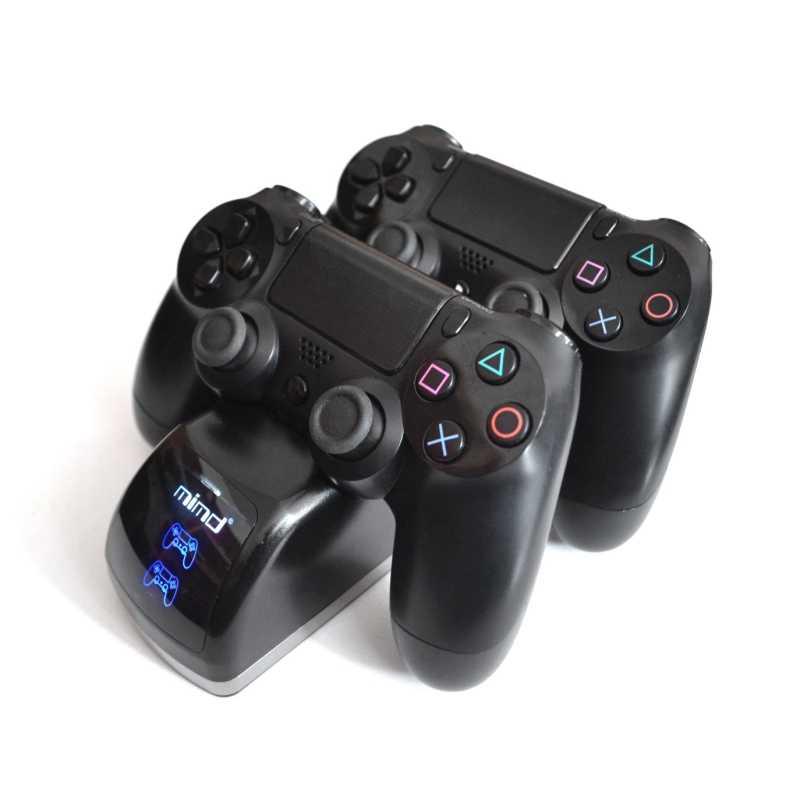 Беспроводной игра подставка для двух контроллеров для Зарядное устройство Стенд со светодиодной лампой терминал Интерфейс док-станция для зарядки для PS4/PS4 тонкий/PS4 Pro