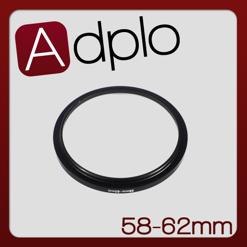 58-62mm Step-Up Metal Adapter Ring / 58mm Lens to 62mm Accessory