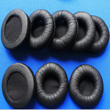 4Pcs 60mm Leather Ear Cushions Soft Sponge headphone Pads Durable Earbud Earpads 6cm