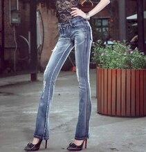 Женщины брюки Летом Новые женские джинсы Slim Fit Джинсы винтаж Sexy узкие джинсы отверстие. q0934