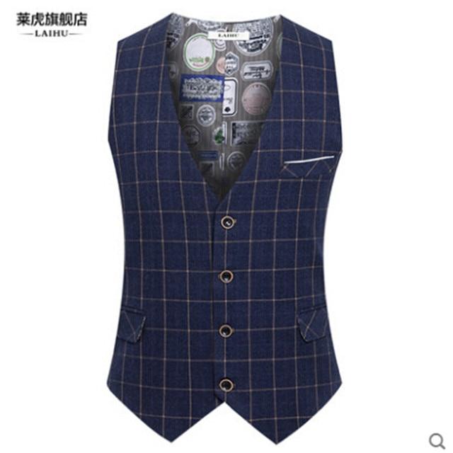 Marca da manta Inglaterra Estilo Homens Primavera Colete Outono Colete Formal Para Os Homens Slim Fit Moda Masculina Vest A2842