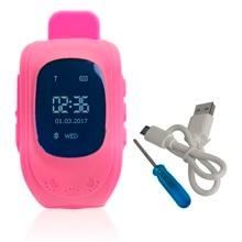 Profesional Q50 Pantalla OLED Niños Niños Reloj de Pulsera GPS Tracker Localizador Anti-perdida Reloj Inteligente A Prueba de agua