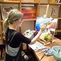 Высококачественный сборочный деревянный мольберт для художника  настольный мольберт  многофункциональная живопись  Портативный Миниатюр...