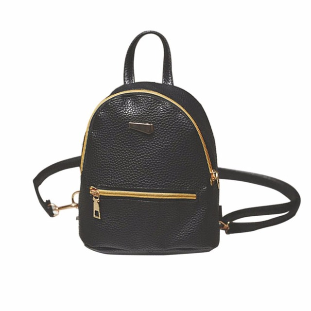 Oiwas Mini Leather Women Backpack Zipper Female Sweet