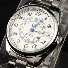 2016 New Fashion Women Luxury Brand Shenhua Wristwatch Classic Steel Case Auto Date Automatic Mechanical Full Steel Band Watch