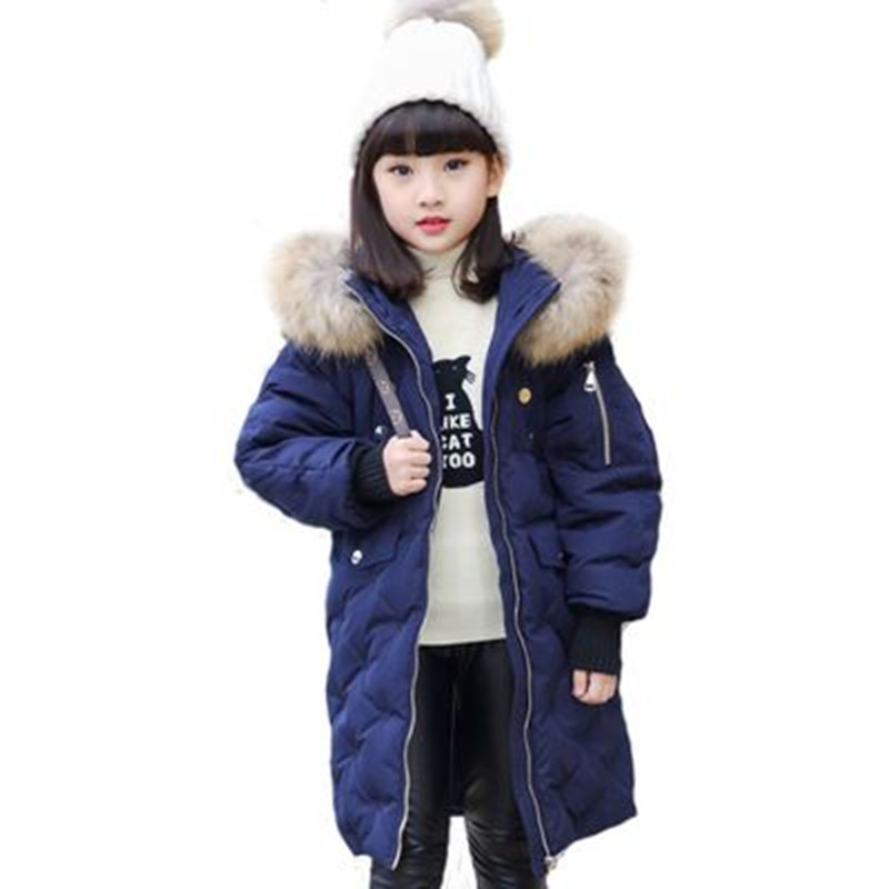 Kids Down Jacket for Girl Children Winter Jackets Boys Coat Baby Boy Long Coats 2-16Y Child Girls Clothes Parka -20-30 Degree 2016 winter jacket girls down coat child down jackets girl duck down long design loose coats children outwear overcaot