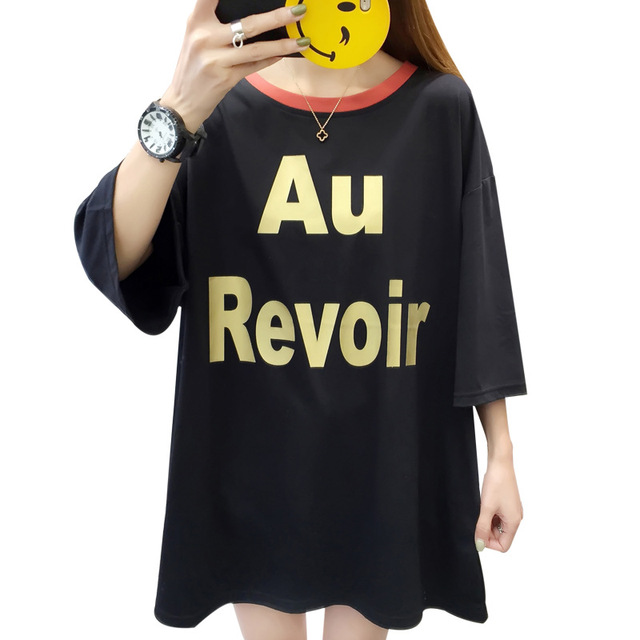 Large Size Women Summer  Casual T-shirt 2019 New All-match Hollow Loose Short Sleeve  Feminino Tee Shirt