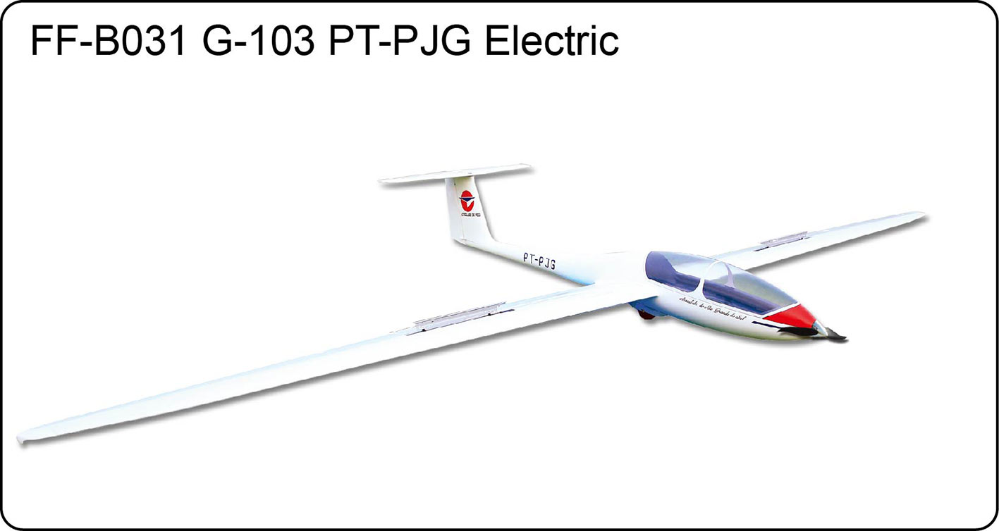 FlyFly Hobby Grob G 103 Electric Glider PT PJG with brake 3000mm PNP without Battery Radio