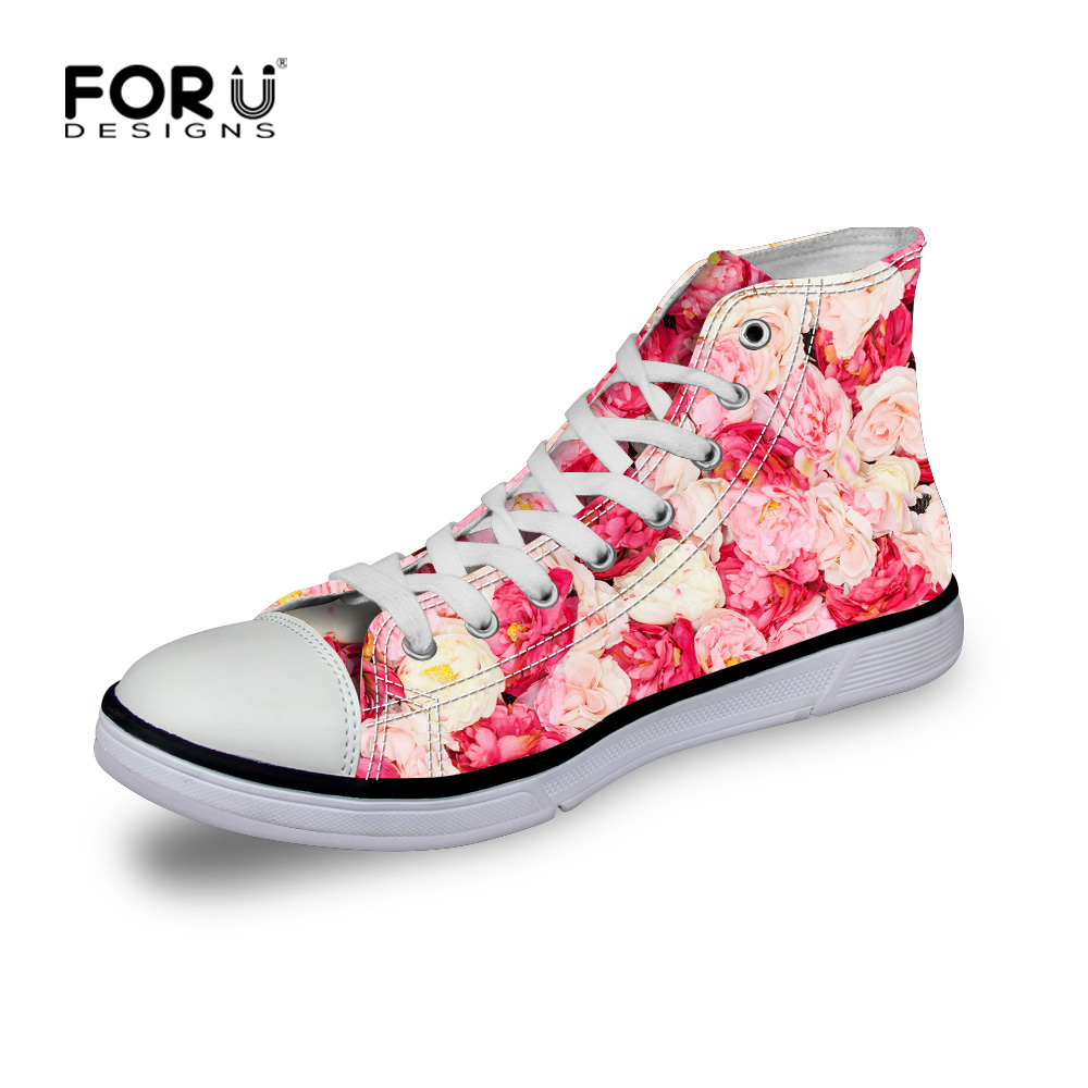 Fashion High Top Canvas Shoes Women Casual Shoes Female b45990b337ca