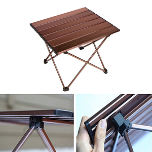 Image 4 - Outdoor Portable Lightweight Aluminium Alloy Desk Mini Easy Clean Waterproof Multiuse Camping Folding Table Hard Topped Durable