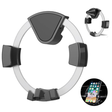 Round Gravity Car Phone Holder Air Vent Mount Cell No Magnetic Mobile Stand Smartphone Bracket