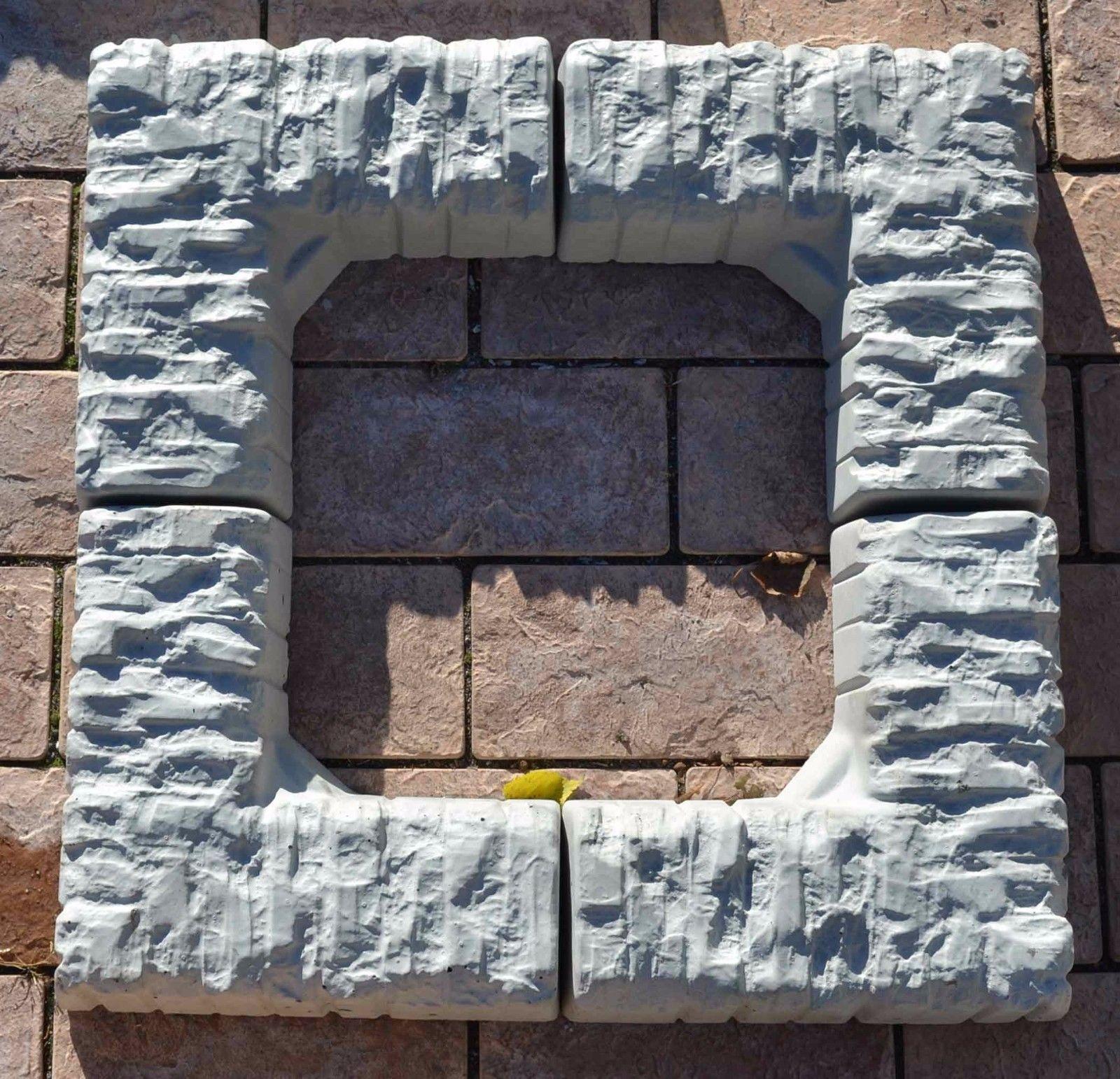 2 stÜcke betonformen eckkante stein garteneinfassung baum landschaft