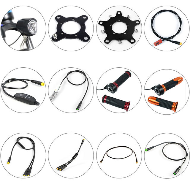 BAFANG Motor Parts Gear Sensor Display Extension Cable USB Programming Cable Y Splitter Brake Gearsensor Twist Throttle 6V Light