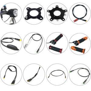 Image 1 - BAFANG piezas de Motor, Sensor de engranaje, pantalla, Cable de extensión USB, Cable de programación, divisor en Y, Sensor de palanca de cambios de freno, acelerador de giro, luz de 6V