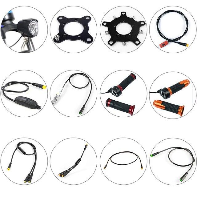 BAFANG piezas de Motor, Sensor de engranaje, pantalla, Cable de extensión USB, Cable de programación, divisor en Y, Sensor de palanca de cambios de freno, acelerador de giro, luz de 6V