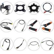Części z silnikiem BAFANG wyświetlacz czujnika biegów przedłużacz kabel USB kabel do programowania y splitter hamulec Gearsensor Twist przepustnica 6V światło