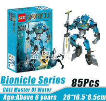 BionicleMask of Light XSZ 707-3 Children's Cali Master Of Water Bionicle Building Block Minifigure Compatible with Legoe Toys