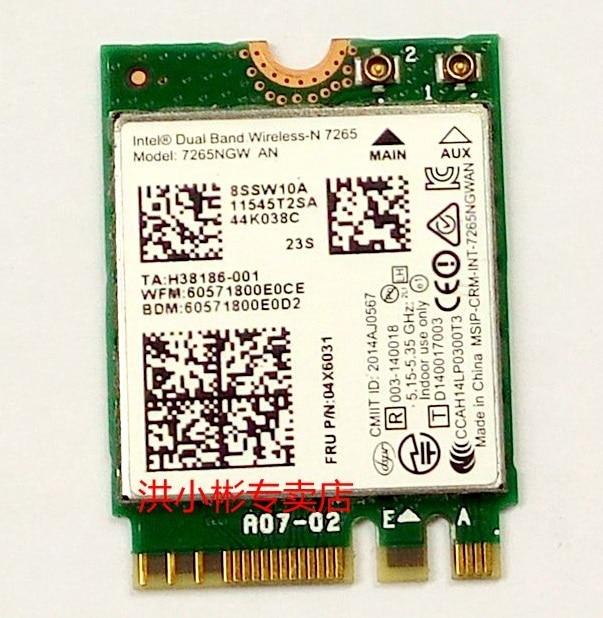 Bluetooth M.2 Intel 7265.NGWG.W Wireless-AC 7265 WiFi Dual Band 2x2 AC