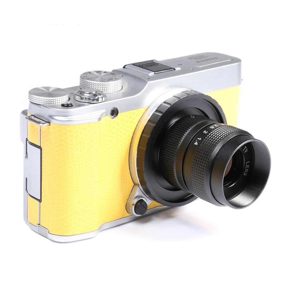 Fujian 25mm F1.4 CCTV camera lens + C-FX Mount Ring for Fuji Fujifilm X-A2 X-A1 X-T1 X-T2 X-T10 X-E1 X-E2 X-1M X-Pro1 X-Pro2 X x